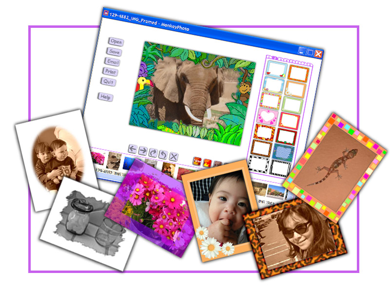Image Editing software - MonkeyPhoto screenshot, snapshot