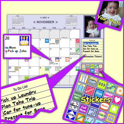 Monkeymen Calendar - Customizable Calendar Reminder w/Photos